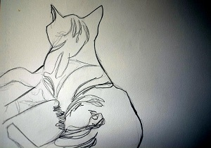 51_Warhol_Cat_pencil_sketch_Fiona van_Brabandt-2