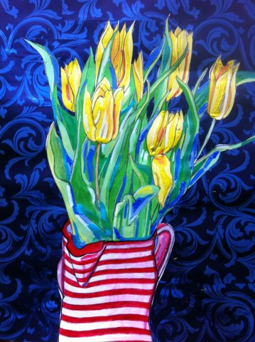 fiona_vanbrabandt_spring_tulips_acrylic_March_2013